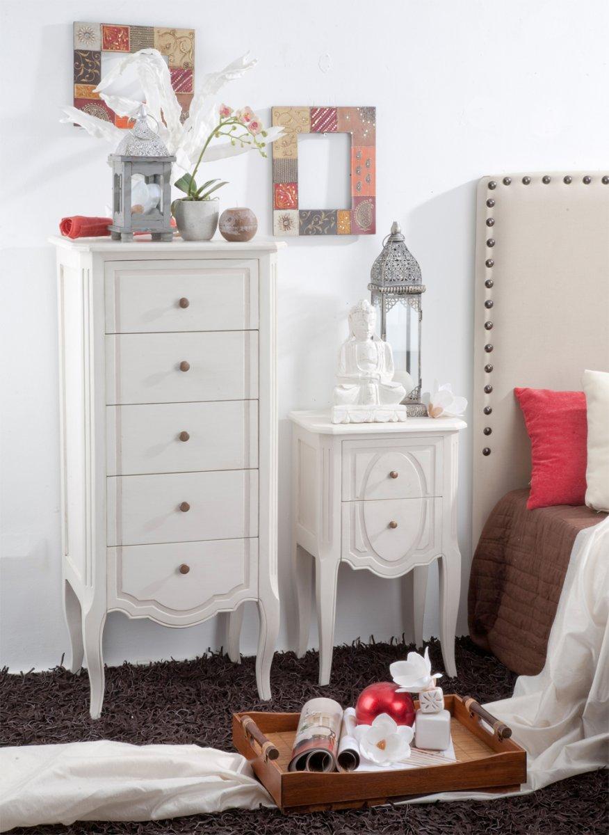 Muebles para un dormitorio rom ntico for Muebles romanticos blancos