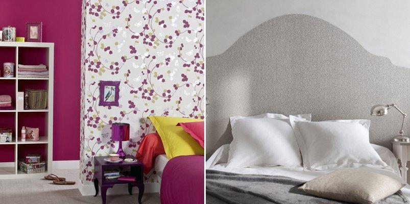 Formas originales de utilizar el papel pintado. BricoDecoracion.com
