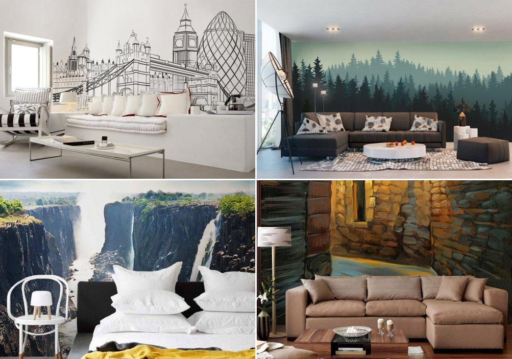 Papeles pintados de la firma pixers for Papeles murales con diseno de paisajes