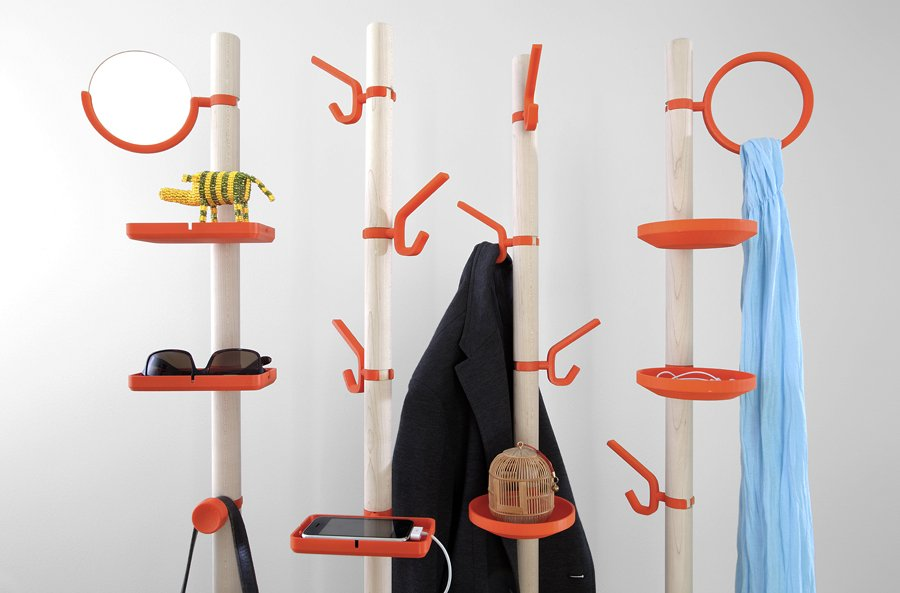 Perchero modular clip tree - Percheros pared diseno ...