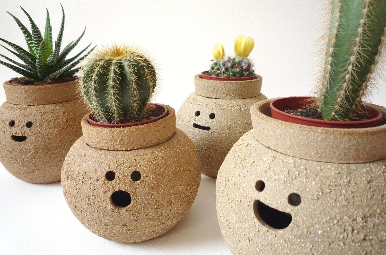 Simp ticas macetas de terracota for Decoracion de jardines con jarrones de barro