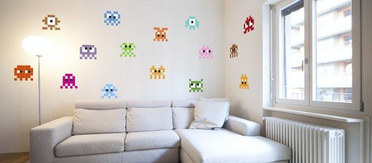 Stickaz decora tus paredes con pixel art - Decora tus paredes ...
