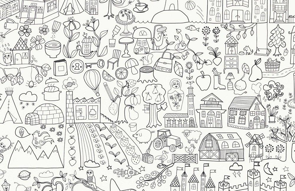 Tela para colorear tidny de ikea - Dibujos habitaciones infantiles ...