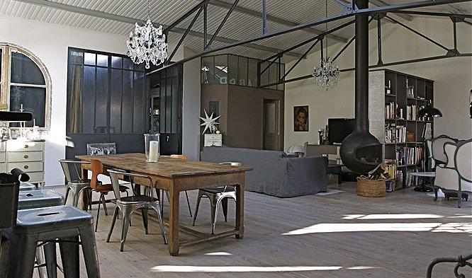 Antiguo almac n de estilo loft for Cortinas estilo industrial